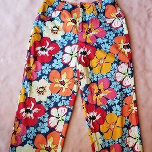 Talbots Petites Women's Floral Cropped Pants